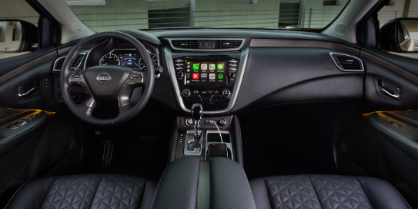 2020 Nissan Murano cockpit and front seats
