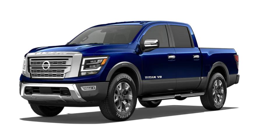 2020 Nissan TITAN in Deep Blue Pearl Metallic/Gun Metallic