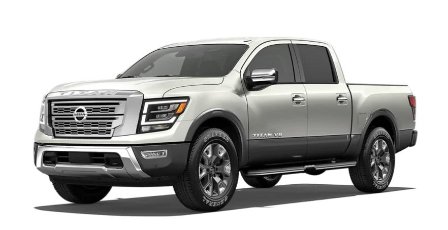 2020 Nissan Titan in Pearl White TriCoat/Gun Metallic