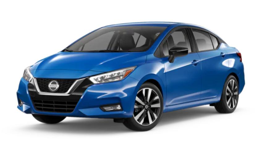 2020 Nissan Versa in Electric Blue Metallic