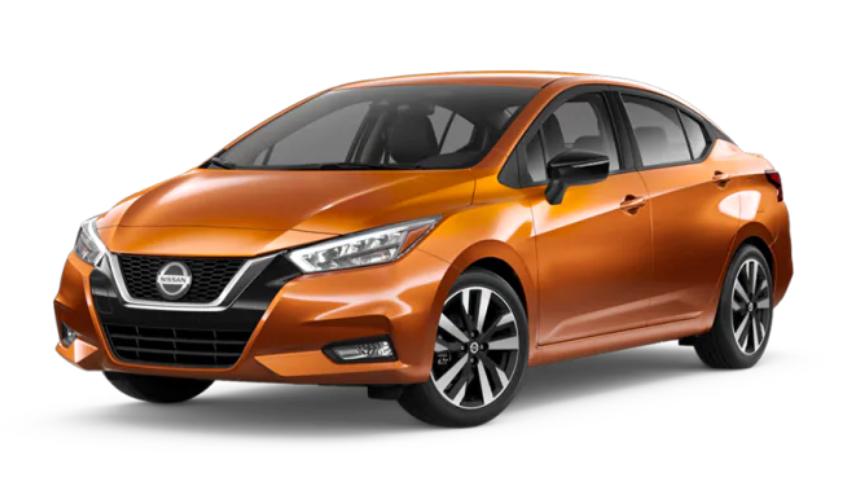 2020 Nissan Versa in Monarch Orange Metallic