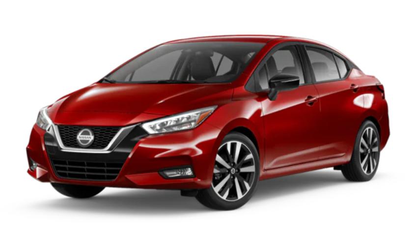2020 Nissan Versa in Scarlet Ember Tintcoat