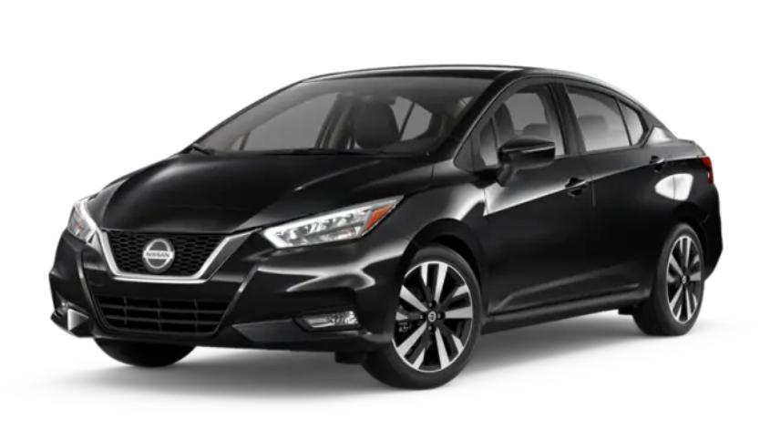 2020 Nissan Versa in Super Black