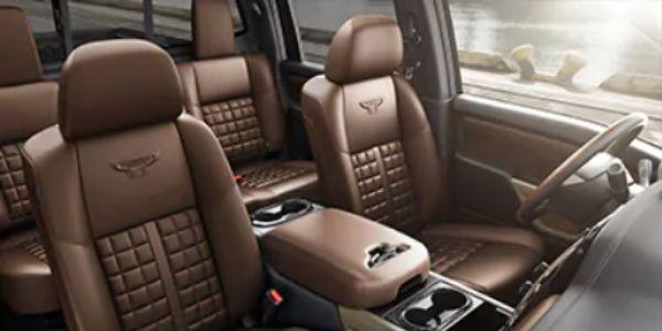 Cutaway Overhead View of 2020 Nissan TITAN Interior Seats
