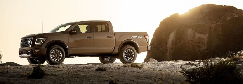 2020 Nissan Titan Pro 4X on desert terrain_