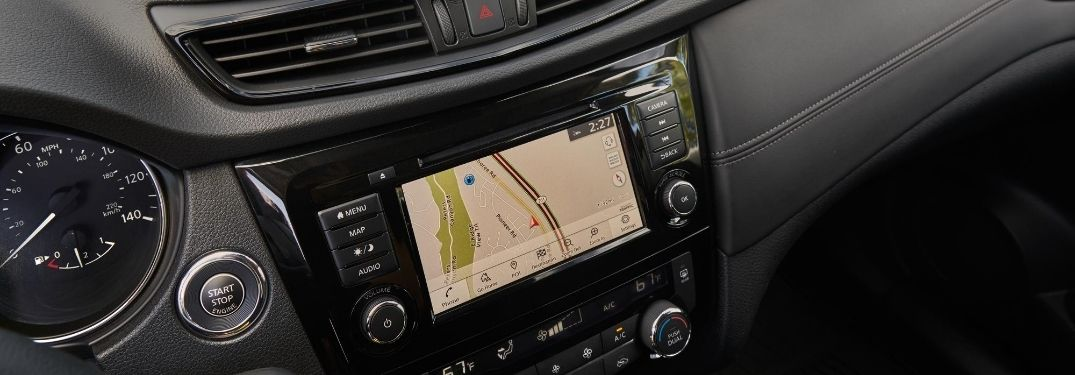 Close Up of Nissan Rogue Touchscreen Display with Navigation
