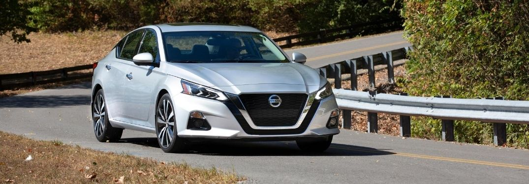 Silver 2020 Nissan Altima on a Country Road