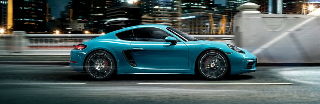 2018 Porsche 718 Cayman on the road