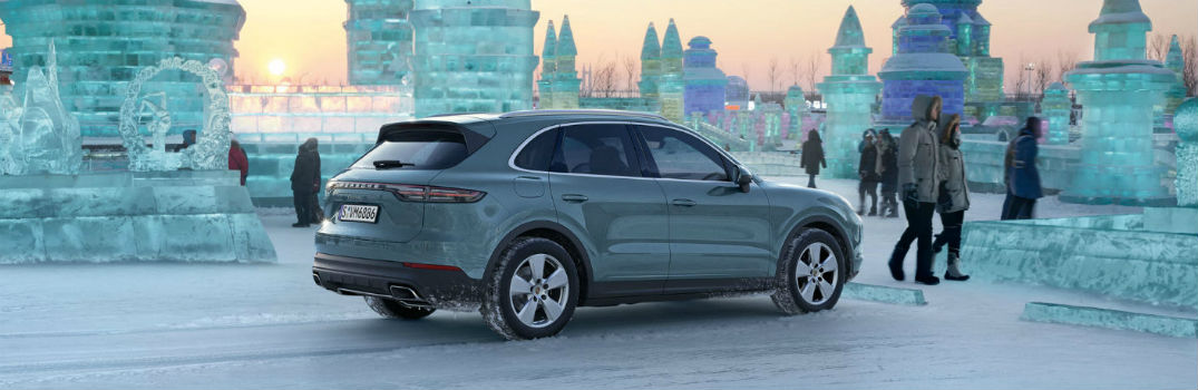 2019 Porsche Cayenne outside a city