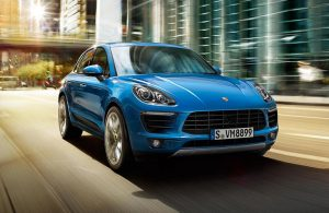 2019 porsche macan on the road