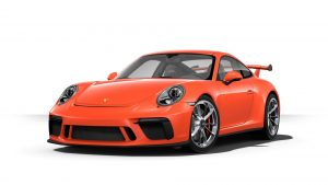 2019 Porsche 911 GT3 in lava orange