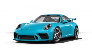 2019 Porsche 911 GT3 in miami blue