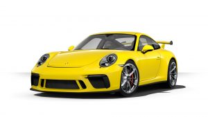 2019 Porsche 911 GT3 in racing yellow