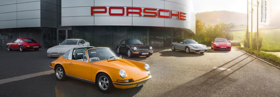 Porsche Classics Dealership with Vehicles on Lot