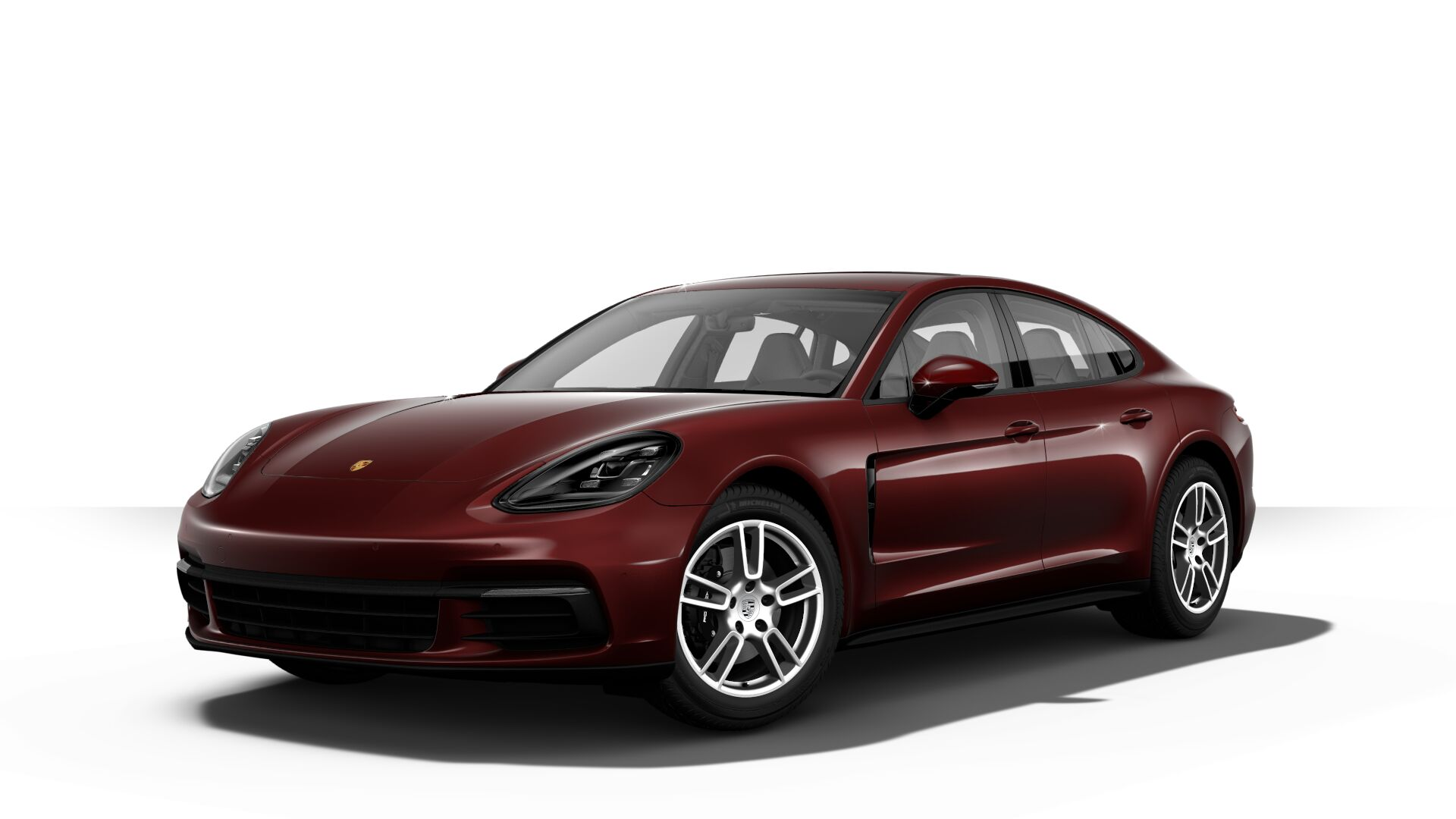 2019 Porsche Panamera in burgundy red