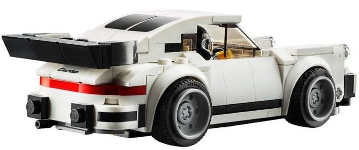 1974 Porsche 911 Turbo 3.0 Lego Replica viewed from rear
