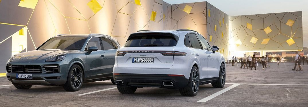 two 2019 Porsche Cayenne models