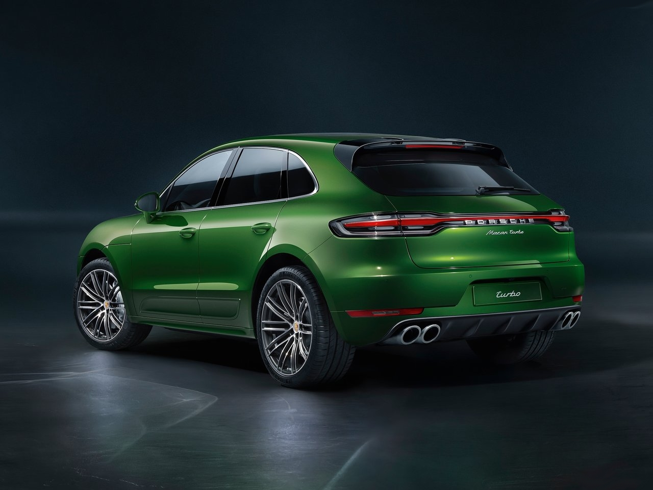 2020 Porsche Macan Turbo viewed from rear