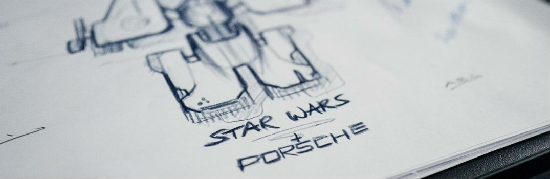 Porsche x Star Wars with Starship Sketch