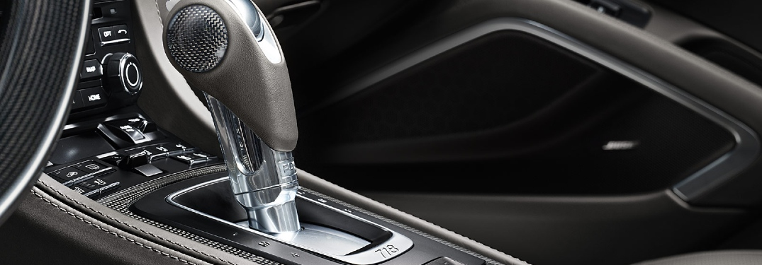 2020 Porsche 718 PDK shifter close up