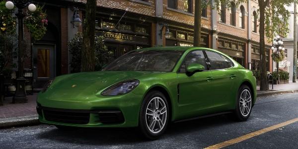 2020 Porsche Panamera in Mamba Green Metallic