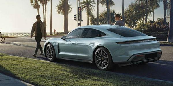 White 2020 Porsche Taycan