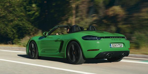 Green Porsche 718 Boxster GTS 4.0