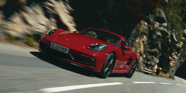 Red Porsche 718 Cayman GTS 4.0