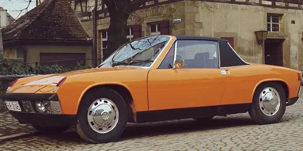 Orange Porsche 914 Classic Model