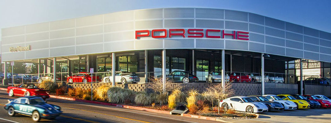 Exterior view of Porsche dealership