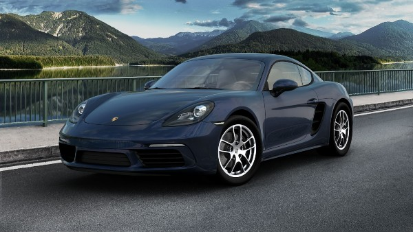 2020 Porsche 718 Cayman in Night Blue Metallic