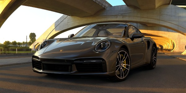 2021 Porsche 911 Turbo S in Agate Grey Metallic