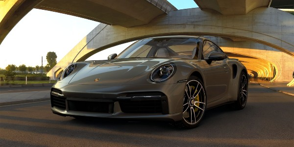 2021 Porsche 911 Turbo S in Aventurine Green Metallic