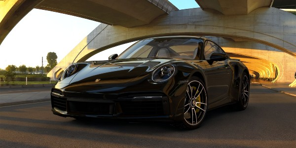 2021 Porsche 911 Turbo S in Black
