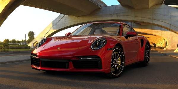 2021 Porsche 911 Turbo S in Carmine Red