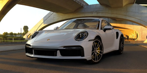 2021 Porsche 911 Turbo S in Chalk
