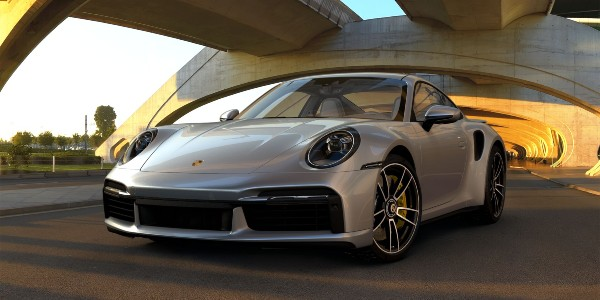 2021 Porsche 911 Turbo S in Dolomite Silver Metallic