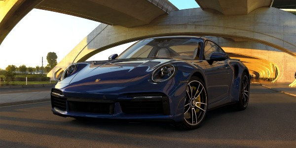 2021 Porsche 911 Turbo S in Gentian Blue Metallic