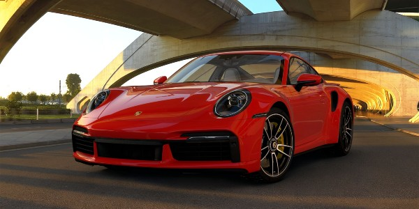 2021 Porsche 911 Turbo S in Guards Red