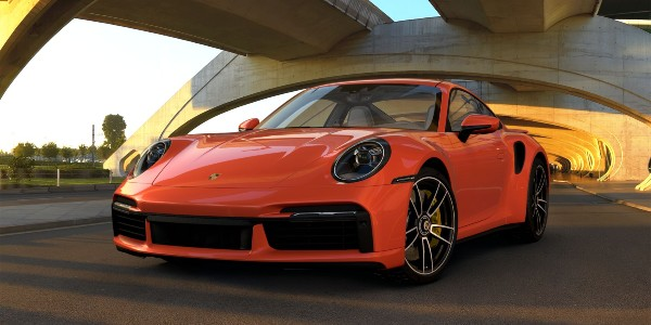 2021 Porsche 911 Turbo S in Lava Orange