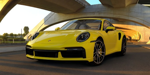 2021 Porsche 911 Turbo S in Racing Yellow
