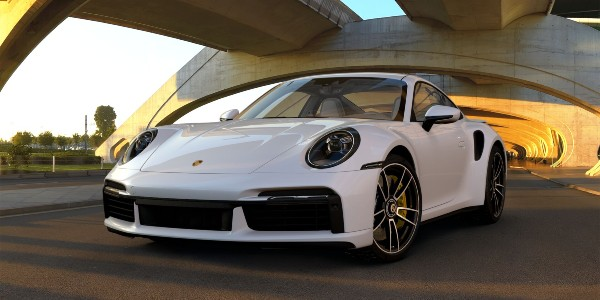 2021 Porsche 911 Turbo S in White