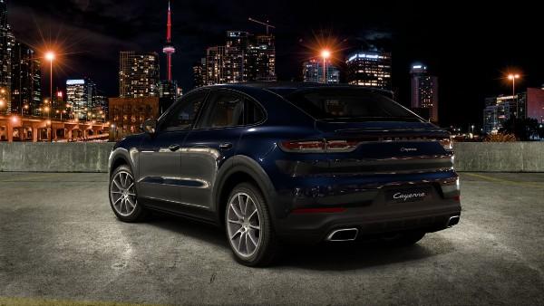 2020 Porsche Cayenne Coupe in Moonlight Blue Metallic