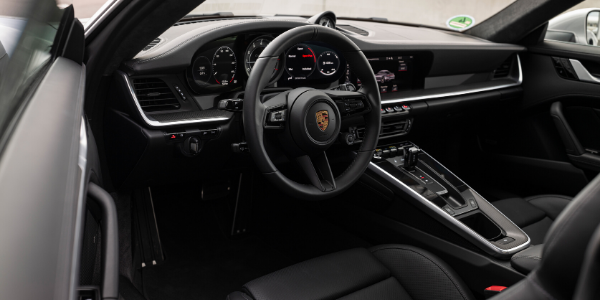 Interior view of 2021 Porsche 911 Turbo S