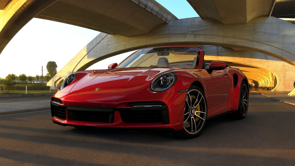 2021 Porsche 911 Turbo S Cabriolet in Carmine Red