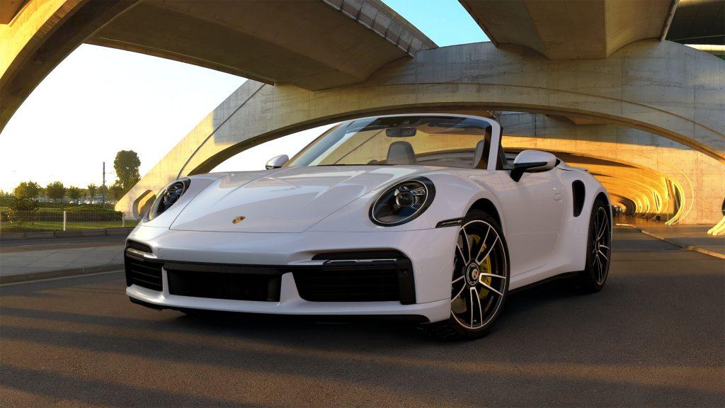 2021 Porsche 911 Turbo S Cabriolet in Carrara White Metallic