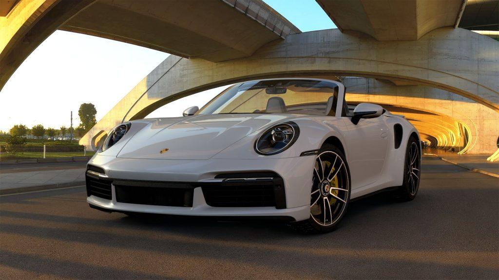 2021 Porsche 911 Turbo S Cabriolet in Chalk