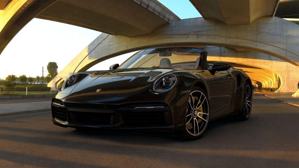 2021 Porsche 911 Turbo S Cabriolet in Jet Black Metallic