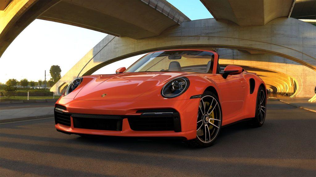 2021 Porsche 911 Turbo S Cabriolet in Lava Orange