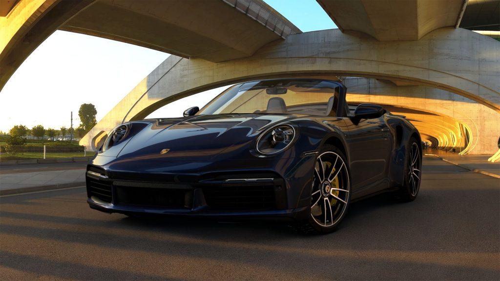 2021 Porsche 911 Turbo S Cabriolet in Night Blue Metallic